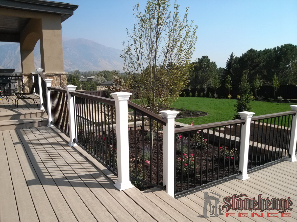 Composite decking and railing