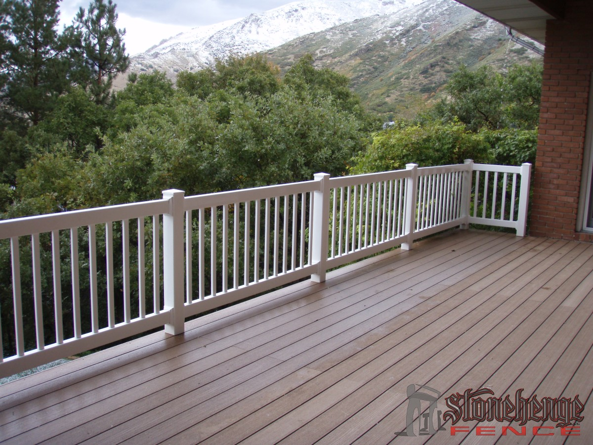 Trex decking in utah for Composite deck railing