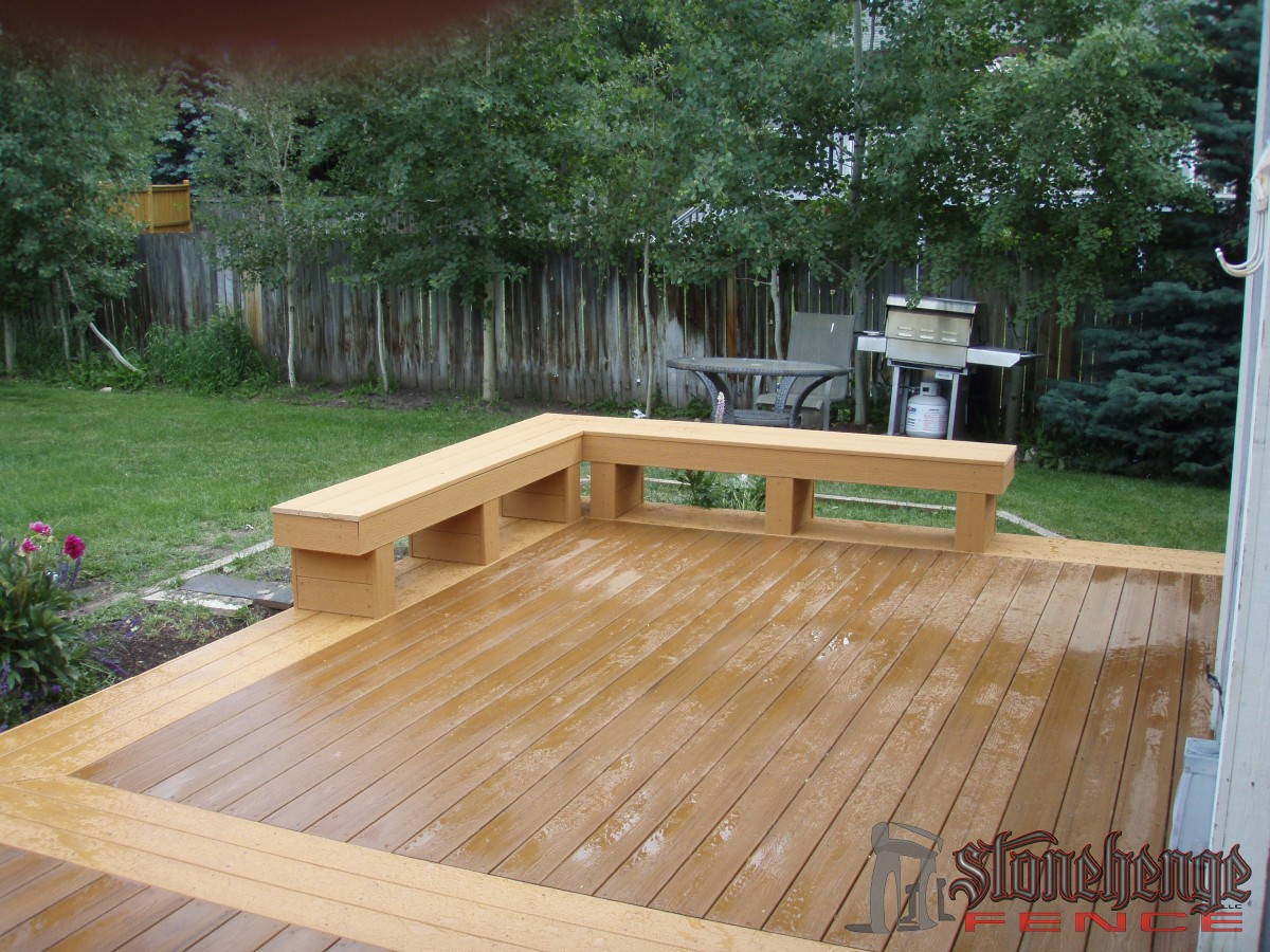 Deck Benches • The Best Fences & Decks in Utah