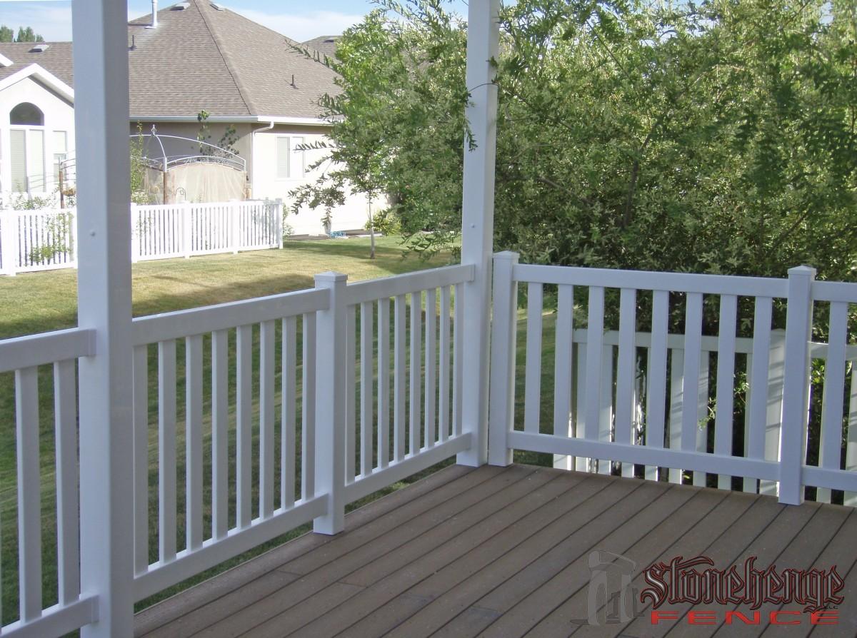 Custom Vinyl Railings The Best Fences Amp Decks In Utah