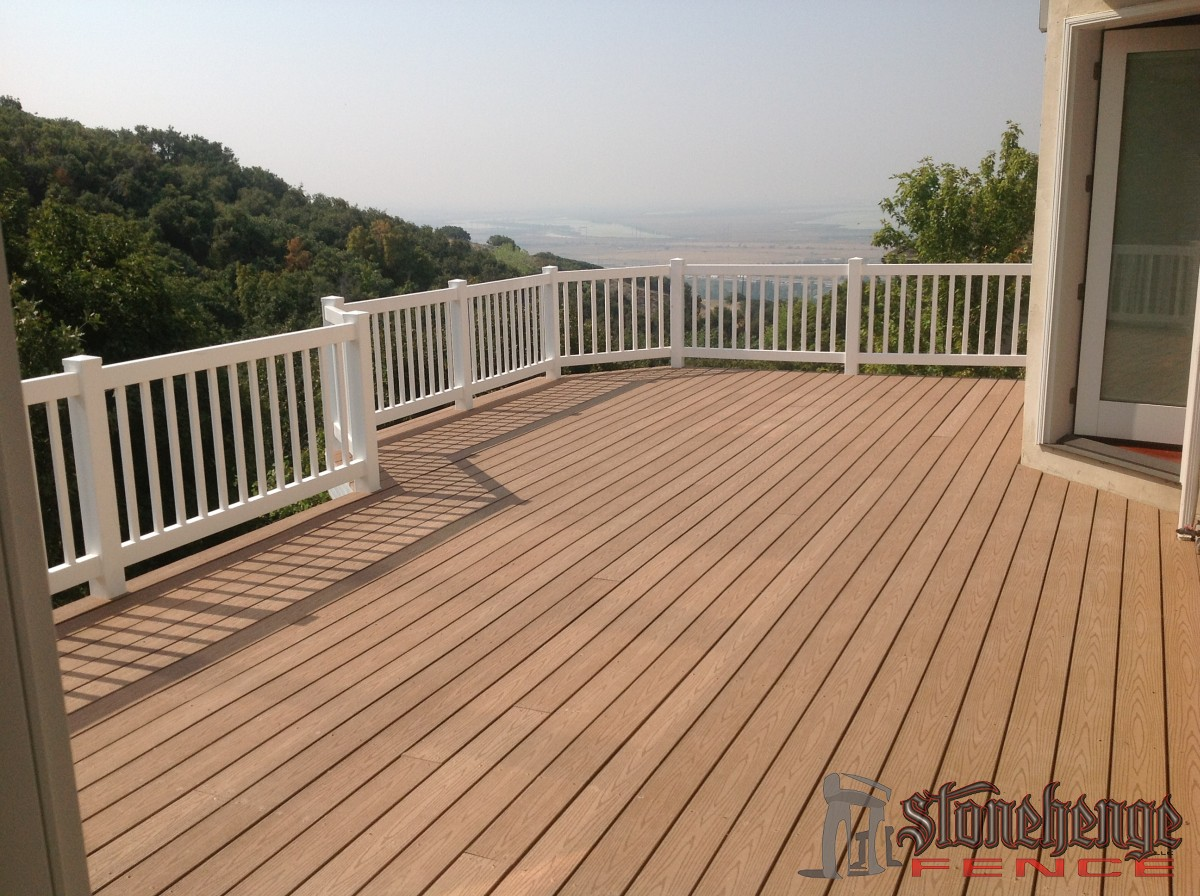 custom vinyl railings the best fences decks in utah. Black Bedroom Furniture Sets. Home Design Ideas