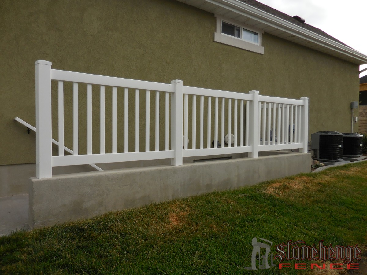 Custom vinyl railings the best fences decks in utah - Vinyl railing reviews ...