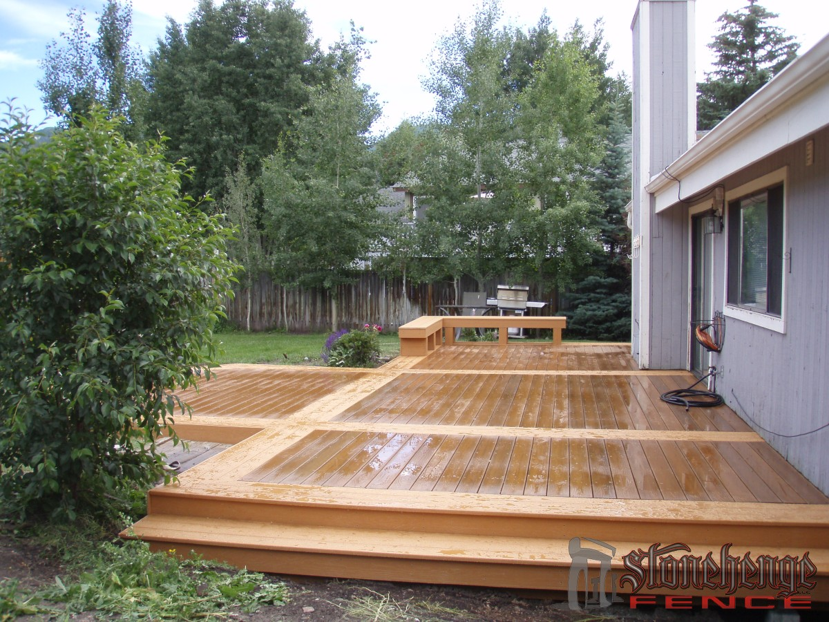 Wood decking railing the best fences decks in utah for Best timber for decking