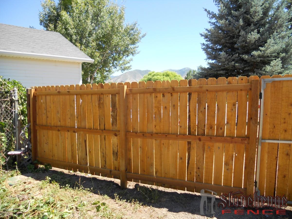 wooden fencing cedar the best fences decks in utah. Black Bedroom Furniture Sets. Home Design Ideas