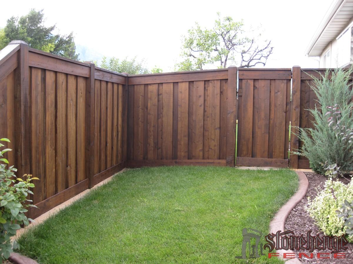 wood fencing the best fences decks in utah. Black Bedroom Furniture Sets. Home Design Ideas